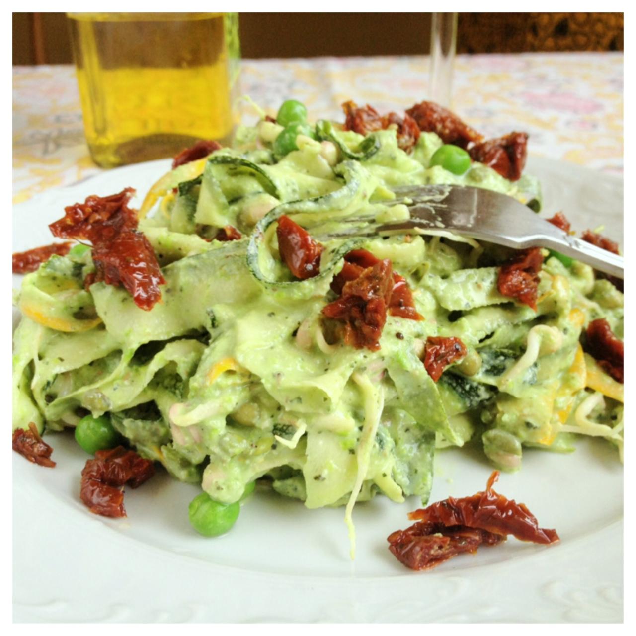 how to cook raw zucchini pasta