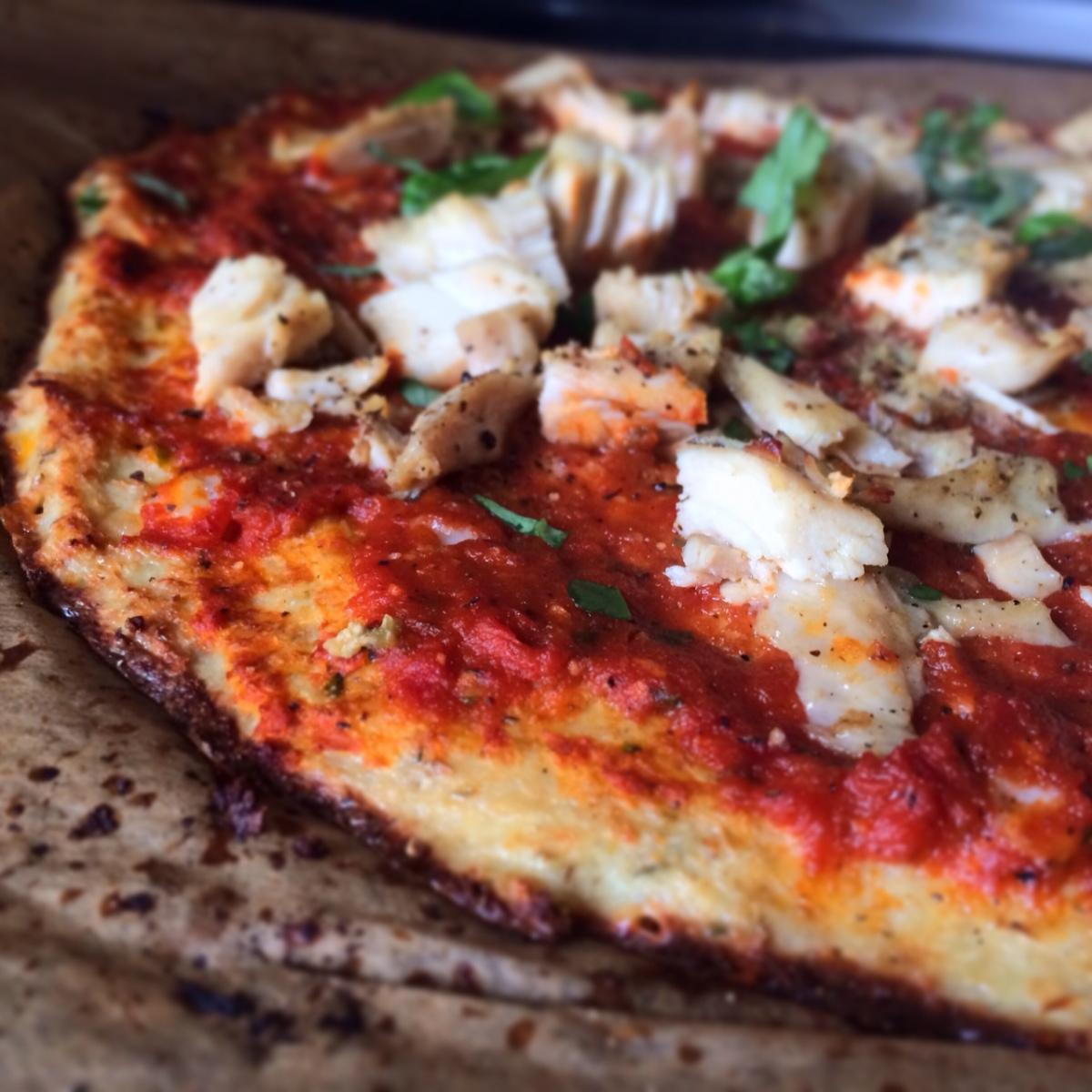 Blomkålspizza (mjölfri, glutenfritt)