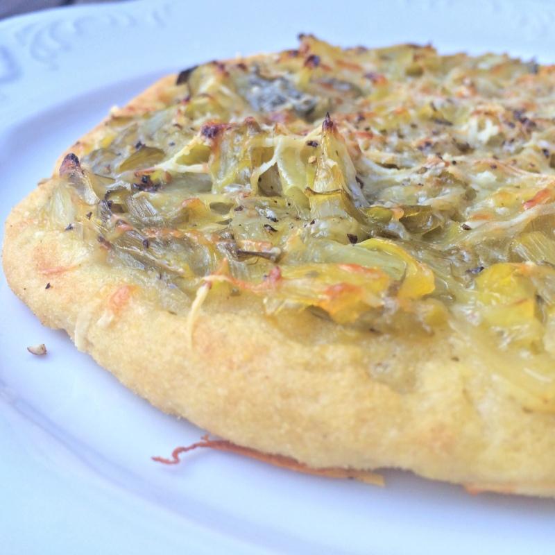 purjolökspizza glutenfri