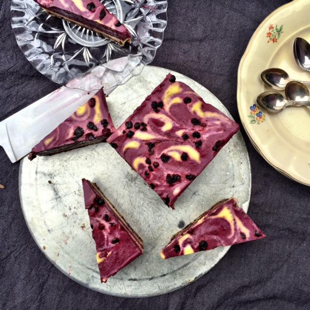 Raw Blåbär och Mango Cheesecake (vegan, mjölkfri)