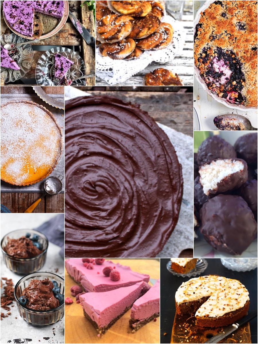 """Topp 10 """"söta"""" recept på bloggen utan gluten, mjölk & vitt socker"""