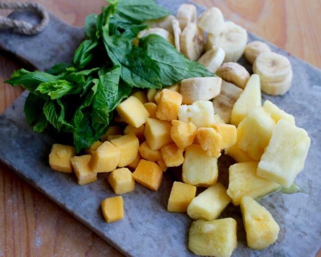 fryst frukt smoothie